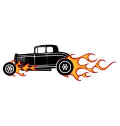 vintage car hot rod garage hotrods carold vector image