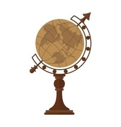 Vintage desktop globe vector