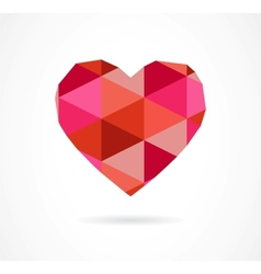 Vintage geometric heart vector