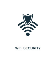 wifi security icon premium style design from vector image