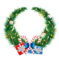 Wreath design element for christmas and new year vector