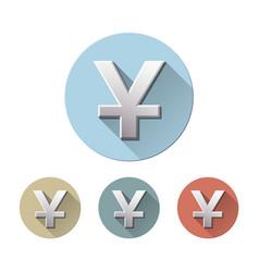 yuan currency symbol vector image
