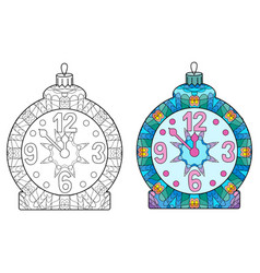 zentangle stylized christmas decorations hand vector image