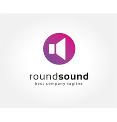 Abstract colored sound speaker logo icon concept vector image