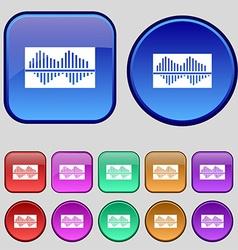 Equalizer icon sign A set of twelve vintage vector image