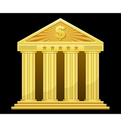 gold bank vector image vector image