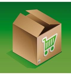 icon of shipping box vector image