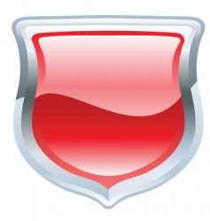 shield illustration vector image vector image
