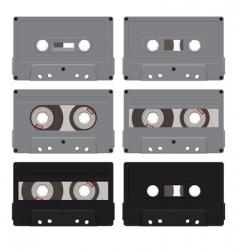 six audiocassettes vector image