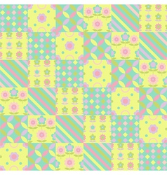 Springtime Colorful Flower Seamless Pattern vector image vector image
