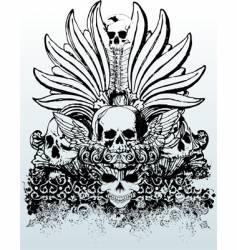Tribal skull grunge illustration vector