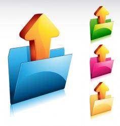 upload folder icon vector image vector image
