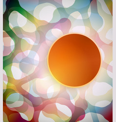 Abstract background with colorful shapes vector