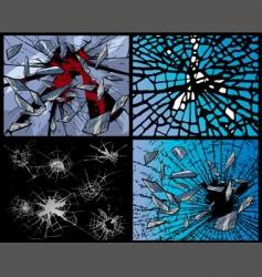 broken glasses vector image vector image