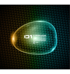 Bubble speech made of shiny glass vector image vector image
