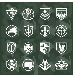 military symbol icons vector image vector image