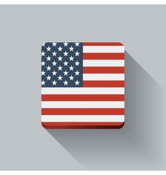 Button with flag of the USA vector image
