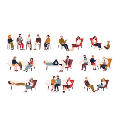 collection of men and women or married couples vector image vector image
