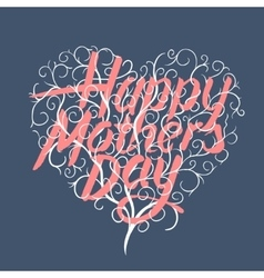 Happy mothers day vintage typographical card vector image