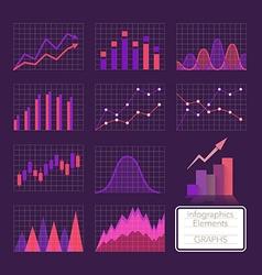 Set of charts vector image vector image
