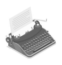 typewriter isometric vector image