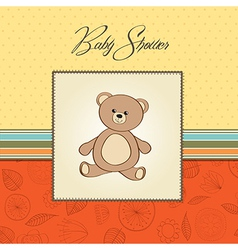 baby shower card with teddy vector image