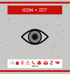 eye symbol icon with iris vector image vector image
