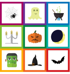 flat icon halloween set of spirit spinner vector image vector image