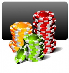gambling illustration with poker chips vector image vector image