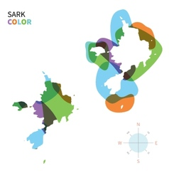 Abstract color map of Sark vector image