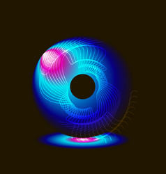 abstract eye on a black background vector image