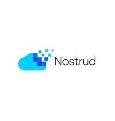 abstract pixel cloud logo icon design modern vector image