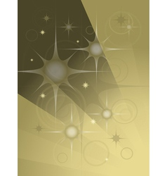 Abstract transparent stars and balls vector image