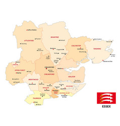 administrative map english county essex vector image