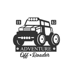 Adventure Off-Roader Extreme Club And Rental Black vector image