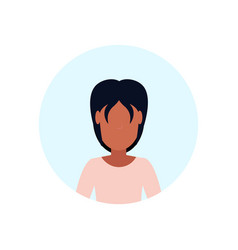 african american woman avatar isolated faceless vector image