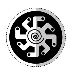 african shield ethnicity icon vector image