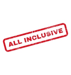 All Inclusive Text Rubber Stamp vector