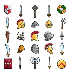 Armoury set vector image