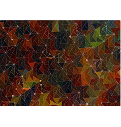 background dark autumn of triangles vector image