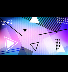 background in the style of memphis geometric vector image vector image