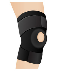 Bandage on an aching knee vector