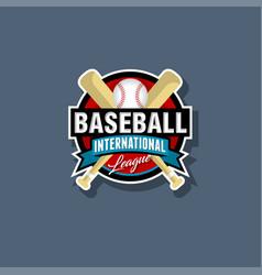 Baseball emblem logo vector