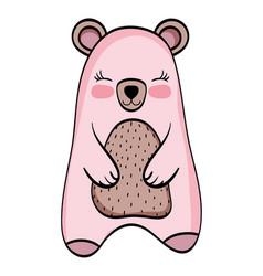 Bear wild animal cartoon vector