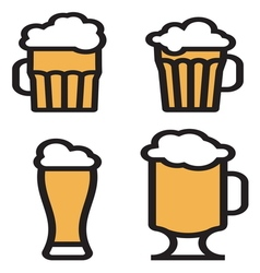 beer simple2 vector image