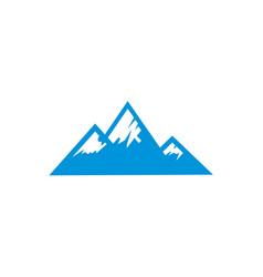 blue ice mountain logo template vector image