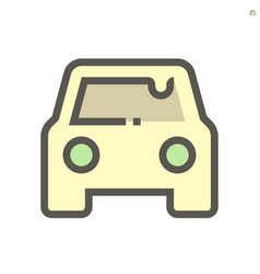 car dirty condition icon design 48x48 pixel vector image