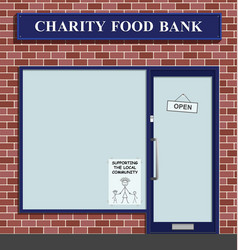 charity food bank serving community vector image