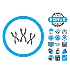 Chromosomes Flat Icon with Bonus vector