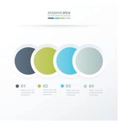 circle overlap infographic green blue gray color vector image